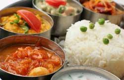 Vegetarian Thali, Marigold Restaurant